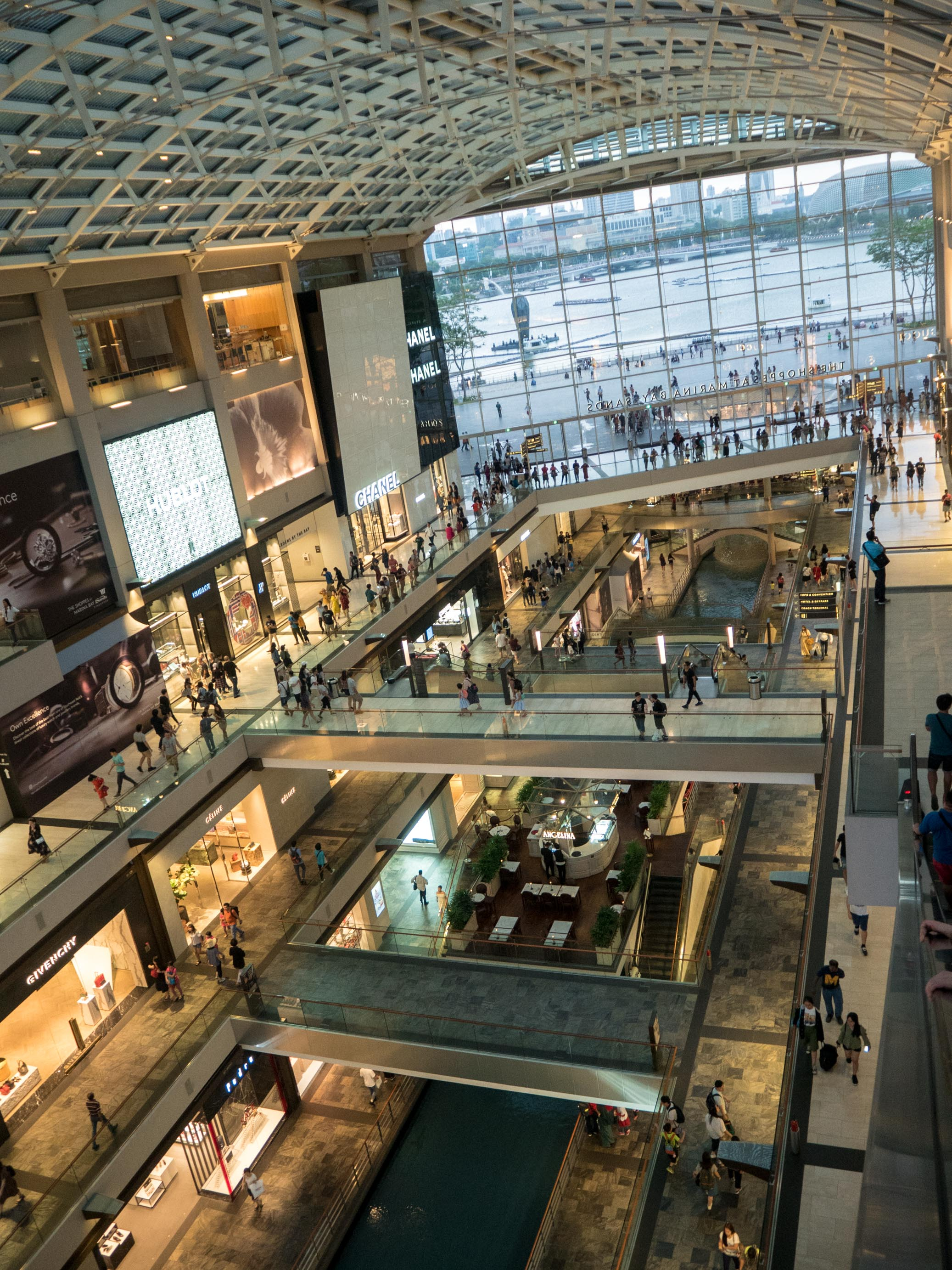 marina bay sands shopping